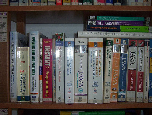 Language programming books, photo by Helder da Rocha