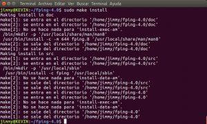 sudo make install (fping)