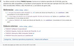 THEOS referencias en Wikipedia