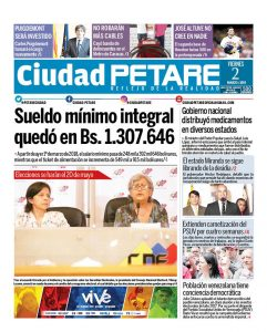 """Diario """"Ciudad PETARE"""" portada 2 de marzo de 2018"""