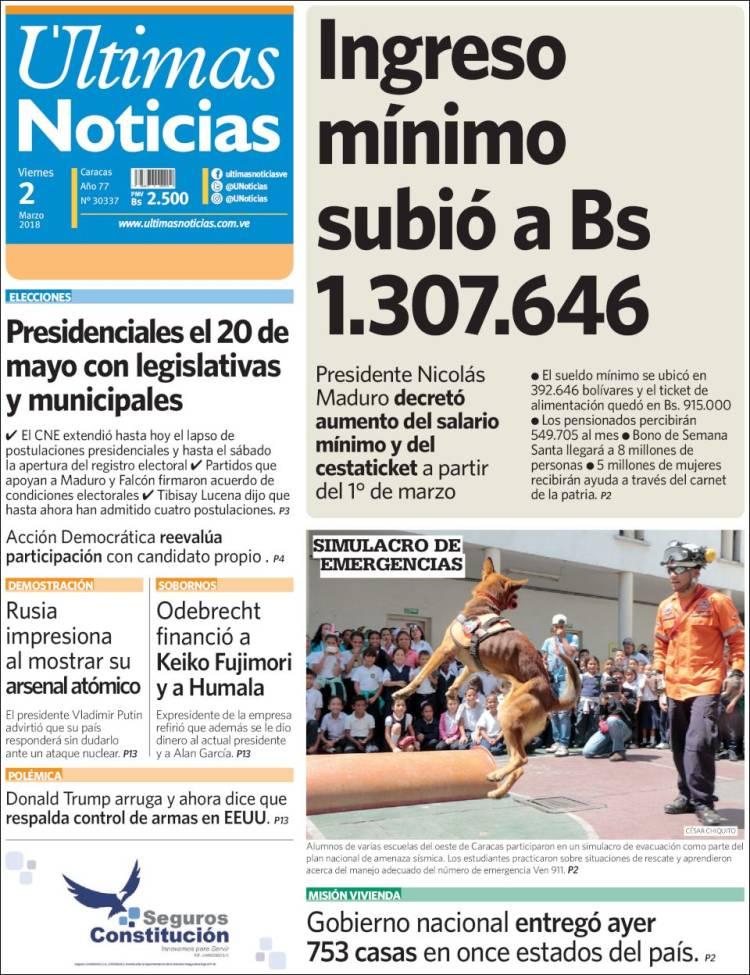 Gaceta oficial extraordinario n aumento de sueldo for Ultimas noticias dela farandula
