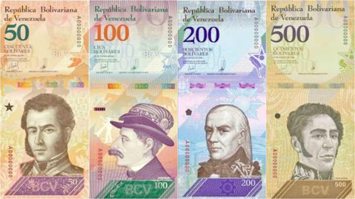 Nuevo cono monetario en Venezuela a partir de junio de 2018.