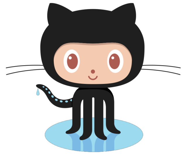 Octocat, the GitHub mascot, a web service for version control