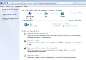 Windows 7 Centro de redes y recursos compartidos