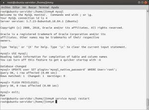 Restableciendo al root de MySQL a conectarse por contraseña y no por credenciales de usuario en Ubuntu