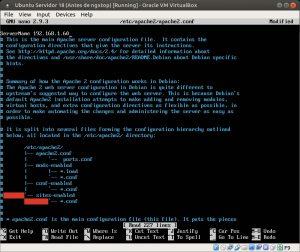 Ubuntu Servidor 18 editando nombre de servidor
