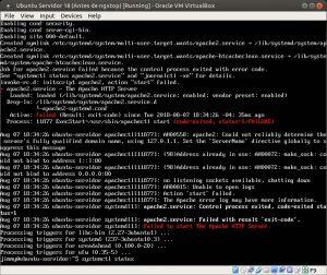 Ubuntu Servidor 18 fallo al instalar el servidor web Apache