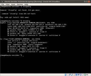Ubuntu Servidor 18 ifconfig