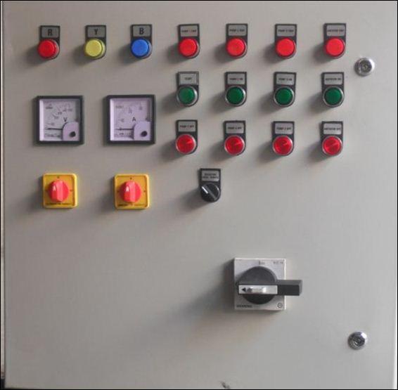 Instrumentación de un Controlador Lógico Programable (Wikipedia https://commons.wikimedia.org/wiki/File:Plc_control_panel.JPG )