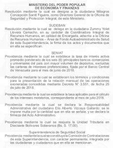 Gaceta Oficial 41.479 sumario detalle
