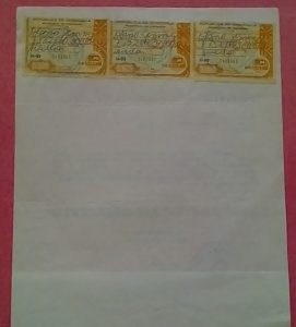 Jimmy Olano certificado de Auxiliar de Farmacia N° 16088 reverso