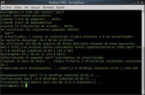 sudo apt install iperf (Lubuntu 18.04)