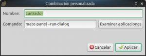 Combinación personalizada de combinaciones de teclas