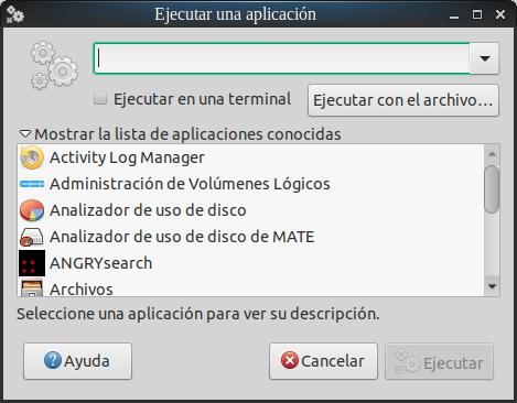 Lanzador de aplicaciones con MATE
