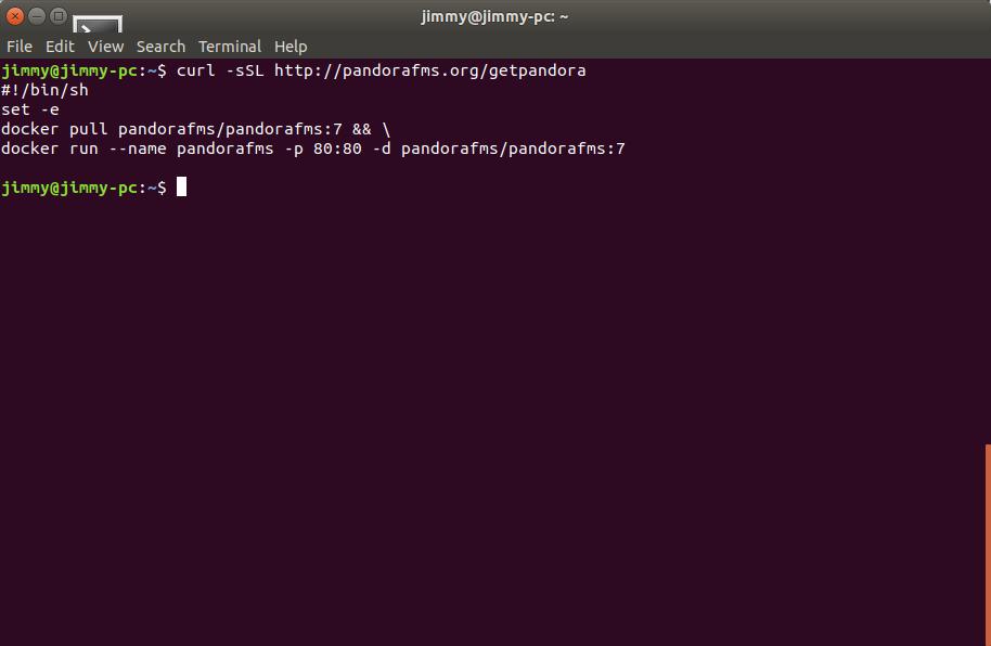 Guion para instalar Pandora FMS bajo Docker