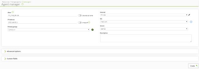 Pandora FMS: datos básicos de un agente