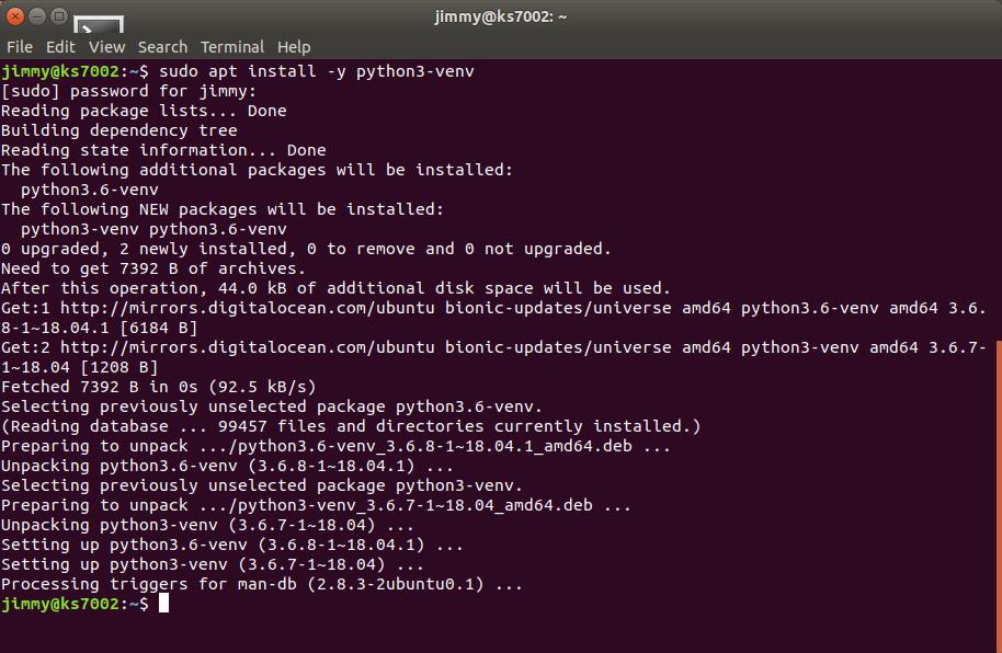 sudo apt install -y python3-venv