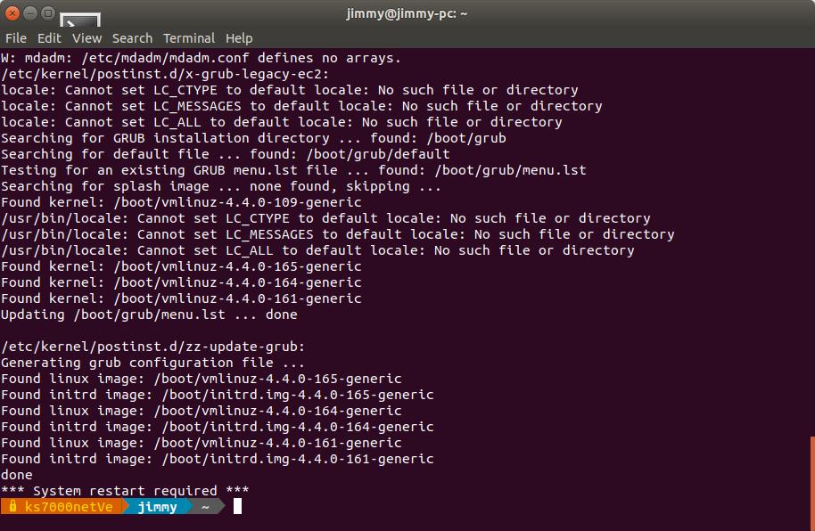 Actualización de Ubuntu 18 a linux-headers-4.4.0-165