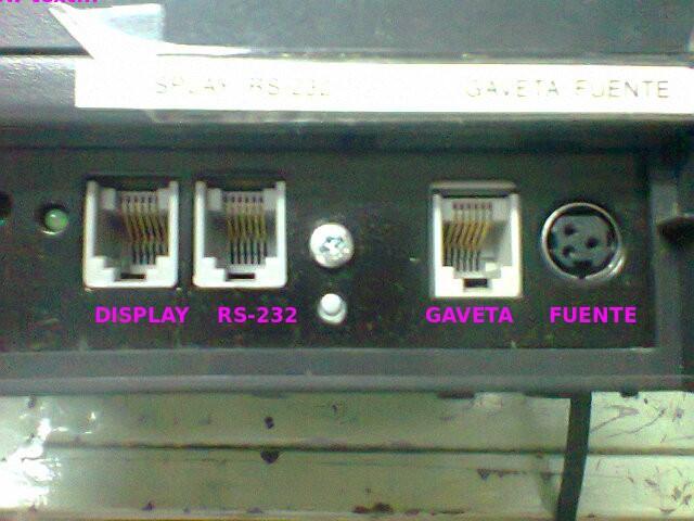 Bixolon SRP-350 puertos vista 1