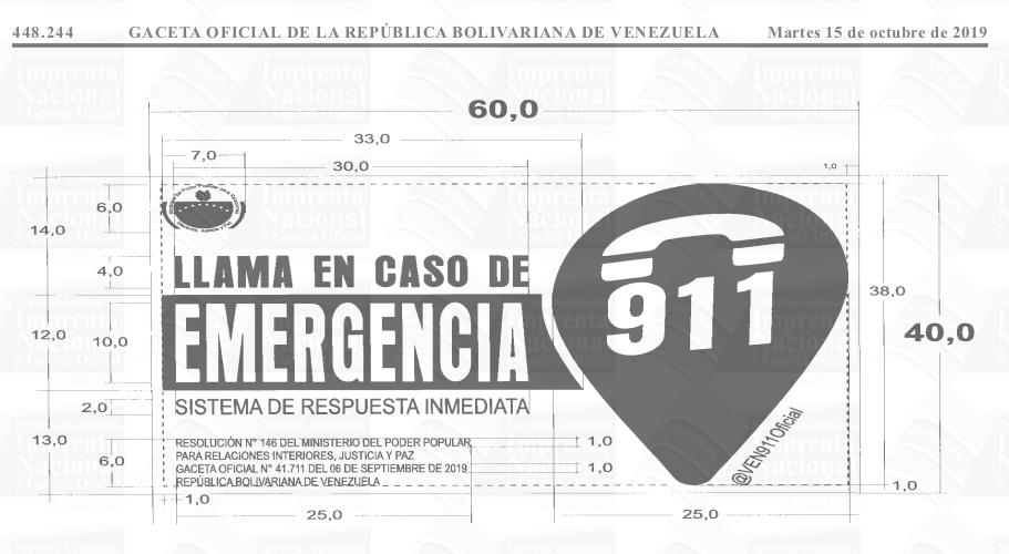 Llama en caso de emergencia Gaceta Oficial 41738 imagen 1