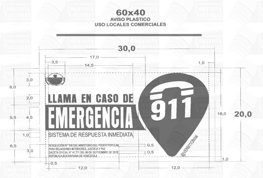 Llama en caso de emergencia Gaceta Oficial 41738 imagen 2