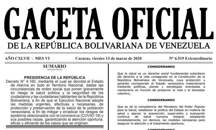 Gaceta Oficial Extraordinario 6.519 sumario 6519
