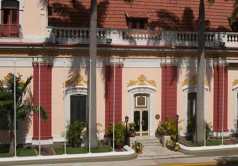 Fachada del Palacio de Miraflores, Caracas, Venezuela