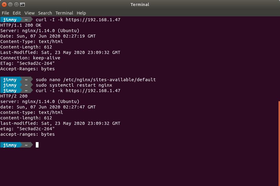 Comprobando versión de protocolo HTTP con ayuda de cURL
