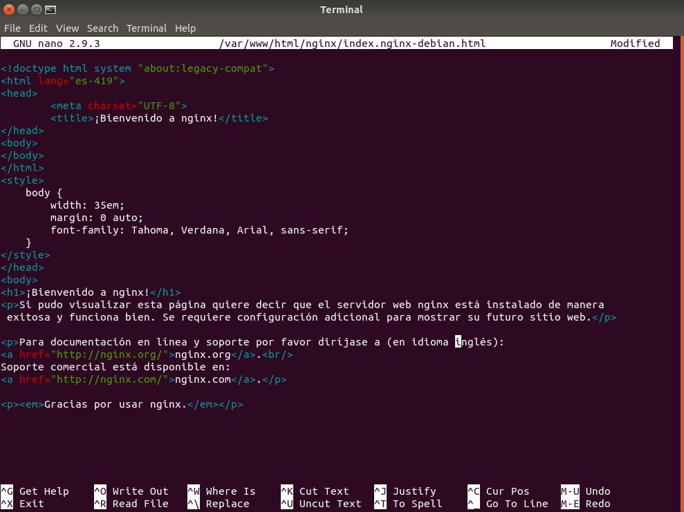 Traducción de index.ngninx-debian.html