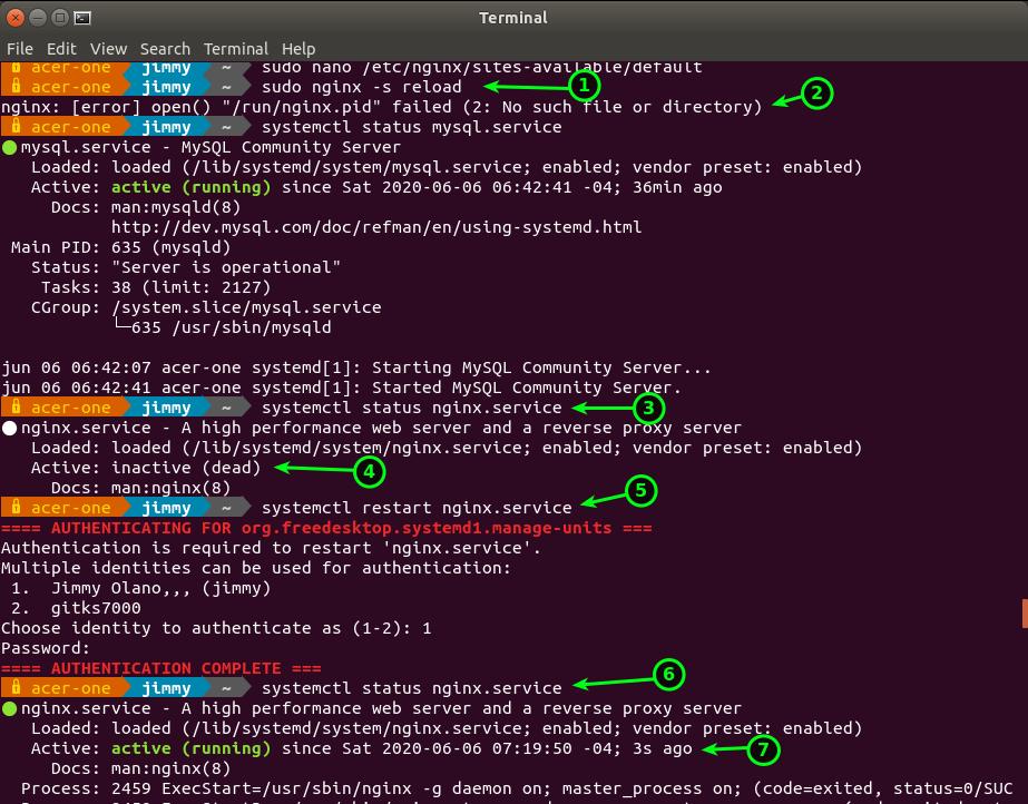 systemctl restart nginx.service