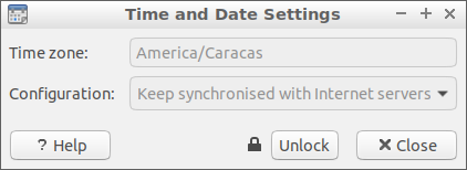 Ajustes de fecha y hora en Lubuntu 18 en inglés