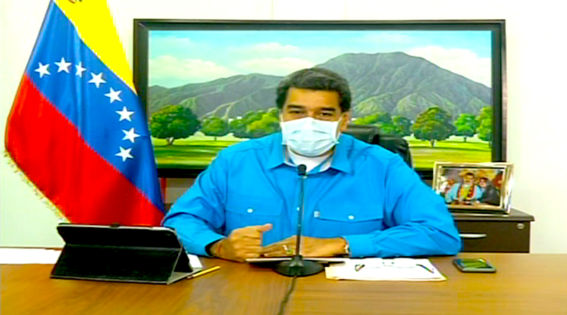 Presidente Constitucional Nicolás Maduro Moros en alocución a la nación el día sábado 11 de julio de 2020