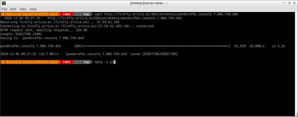 Descarga del instalador de la consola PFMS 749