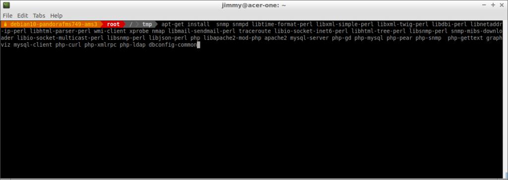 Instalación de las dependencias de la consola PFMS incluído PHP (última versión)