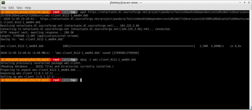 Instalación de wmi-client desde repositorio PFMS en SorceForge