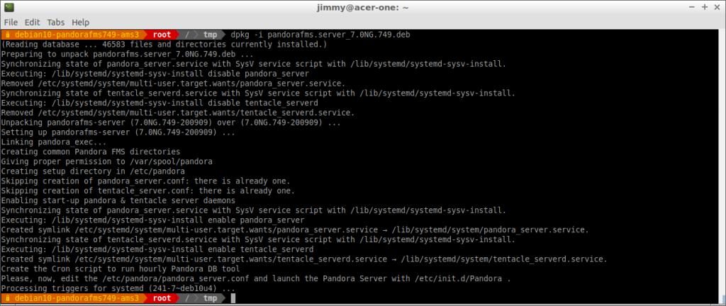 Instalación del servidor PFMS 749 en Debian 10