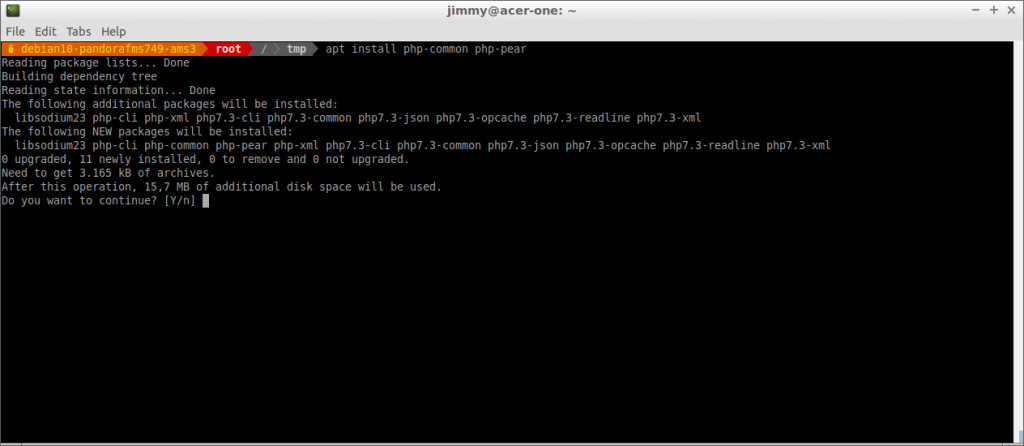 apt install php-common php-pear