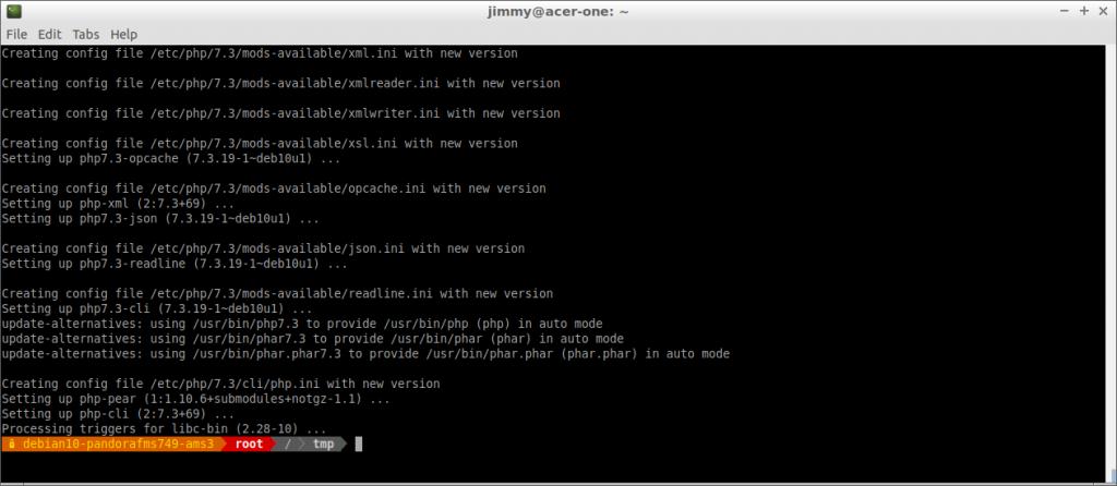 apt install php-common php-pear (finalización)