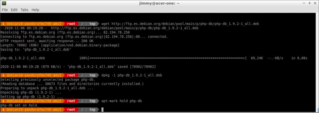 dpkg -i php-db_1.9.2-1_all.deb