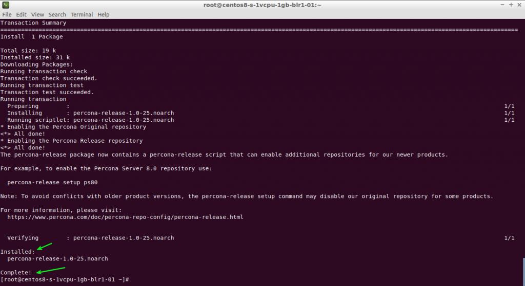 dnf install -y https://repo.percona.com/yum/percona-release-latest.noarch.rpm