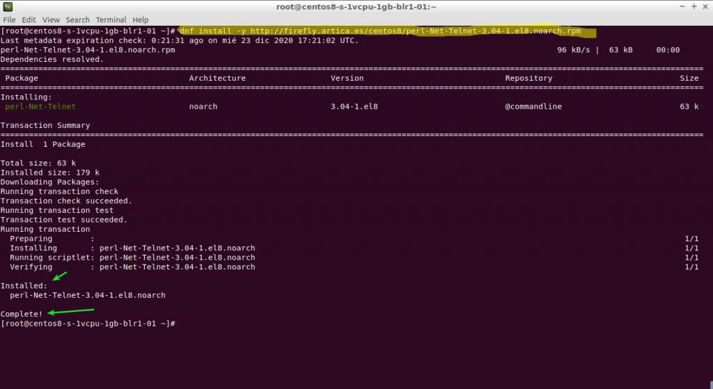 dnf install -y http://firefly.artica.es/centos8/perl-Net-Telnet-3.04-1.el8.noarch.rpm