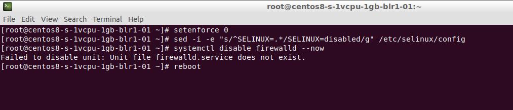 Deshabilitación de SELinux.