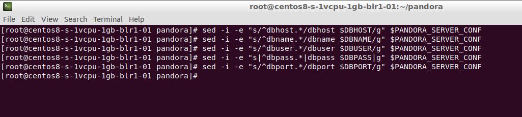 Configuración del servidor PFMS