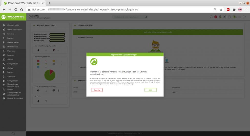 Subscripción a actualizaciones automáticas