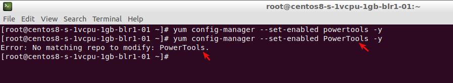 "CentOS 8 no acepta ""PowerTools"""