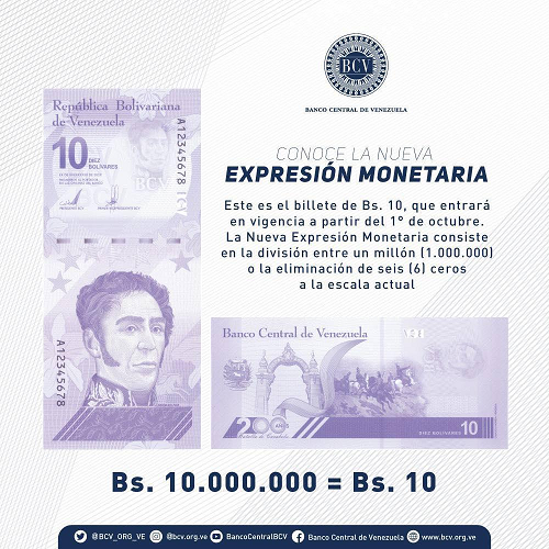 Bolívar Digital billete de 10