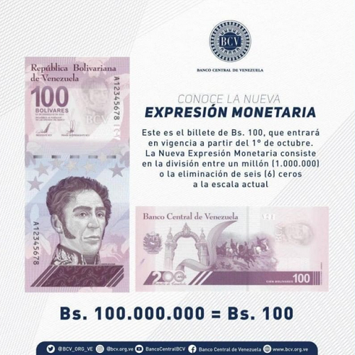 Bolívar Digital billete de 100