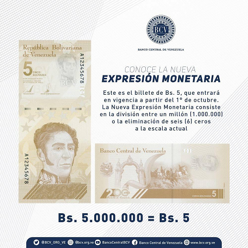 Bolívar Digital billete de 5