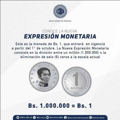 Bolívar Digital moneda de 1